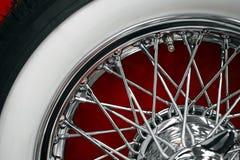 Vintage car spoke wheel Royalty Free Stock Image