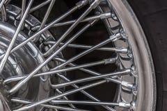 Vintage car spoke wheel Royalty Free Stock Photos