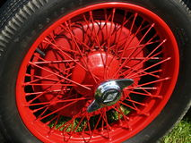Vintage Car Spoked Wheel royalty free stock image