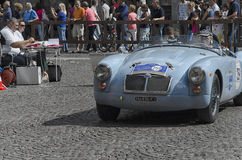 Vintage car at the start of the Nuvolari Grand Prix Stock Image