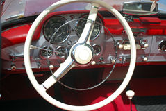Vintage car steeling wheel Royalty Free Stock Image