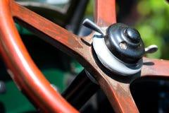 Vintage car steering wheel Royalty Free Stock Images