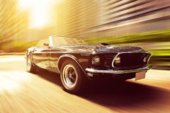 Vintage Car. On the street Royalty Free Stock Images