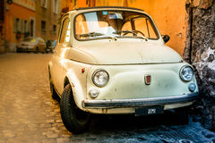 Vintage car on the street of Rome. Stock Photography
