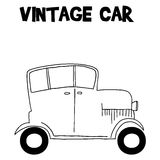 Vintage car style of transportation. Vector art Stock Image