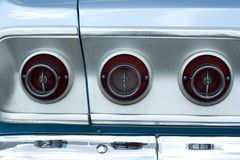 Vintage car tail lights Stock Photo
