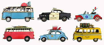 Vintage car toys pack Stock Photo