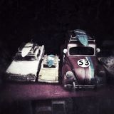 vintage car toys Royalty Free Stock Photo
