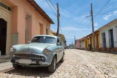 Vintage car in Trinidad, Cuba Stock Images