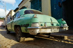 Vintage car in Trinidad, Cuba Stock Images