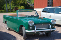 Vintage car Triumph Herald 1200 Convertible on the streets of the city of Loviisa Royalty Free Stock Images