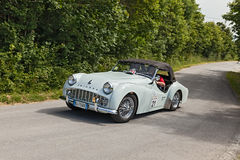 A vintage car Triumph TR3 A Stock Photography