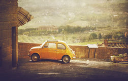 Vintage car in Tuscany, Italy Royalty Free Stock Image