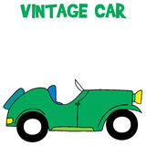 Vintage car of vector art. Collection stock Stock Image