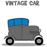 Vintage car vector art illustration. Collection stock Royalty Free Stock Photography