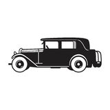 Vintage car vector icon royalty free stock image