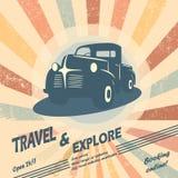 Vintage car vector illustration Stock Photography