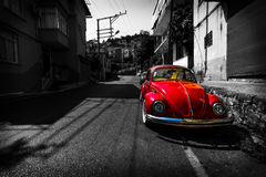 Vintage car Volkswagen Beetle Royalty Free Stock Photography