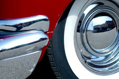 Vintage car wheel Stock Photo