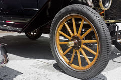 Vintage Car Wheel Stock Photo