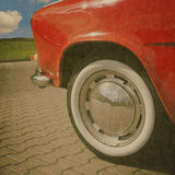 Vintage car wheel Royalty Free Stock Image