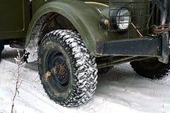 Vintage car wheels Royalty Free Stock Photos