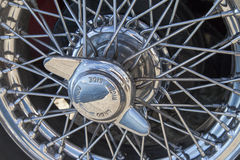 Vintage car wire wheels Stock Photography
