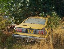 Vintage car wreck  in Greece Stock Photography
