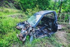 Vintage car wreck stock photography