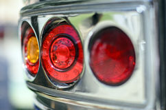 Vintage caravan tail lights Royalty Free Stock Photo