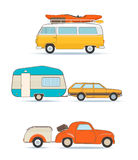 Vintage Caravans and Cars Stock Photography