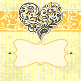 Vintage card with abstract heart Royalty Free Stock Photos