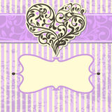 Vintage card with abstract heart Stock Photo
