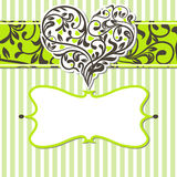 Vintage card with abstract heart Stock Photos