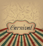 Vintage card with advertising header for carnival Stock Images
