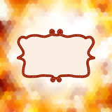 Vintage card on autumn leaves texture. EPS 10 Royalty Free Stock Images