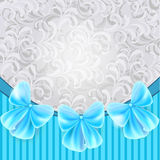 Vintage card with blue bows Royalty Free Stock Photo