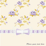 Vintage card with bow Stock Photo