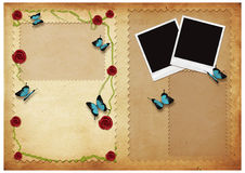 Vintage card with butterflyes Royalty Free Stock Photo