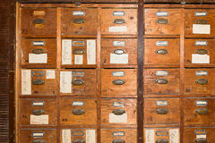 Vintage card catalogue Stock Photos