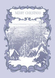 Vintage card christmas Stock Photos