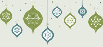 Vintage card with Christmas balls Royalty Free Stock Images