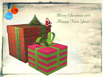 Vintage Card for Christmas Royalty Free Stock Images