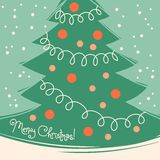 Vintage card with Christmas tree. Royalty Free Stock Photos