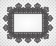 Vintage card with chrochet lace frame Royalty Free Stock Images