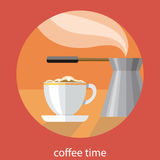 Vintage card of coffe time Royalty Free Stock Images