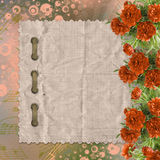 Vintage card for congratulations and invitations with a bouquet Royalty Free Stock Image