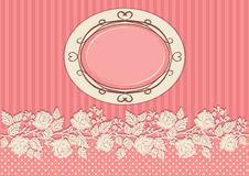 Vintage card decorated with roses royalty free illustration