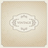 Vintage card design Royalty Free Stock Photo