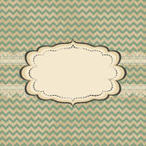 Vintage card design. With frame on grunge background vector illustration